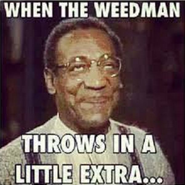 Bill Cosby weed man throws in extra meme