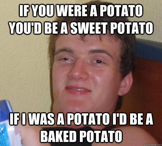 baked potato meme sweet potato