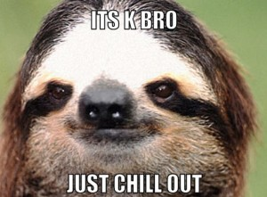 sloth-chill-out