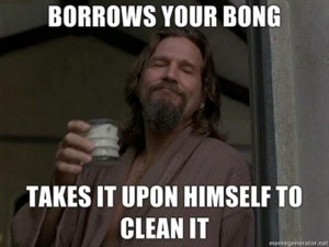 the dude clean meme